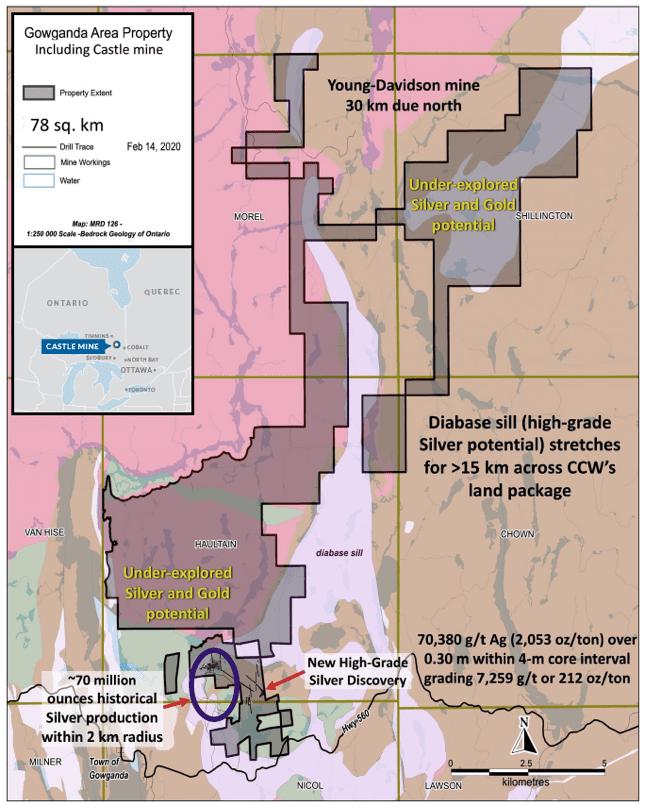 gowganda area property map