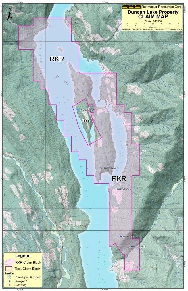 duncan lake claim map