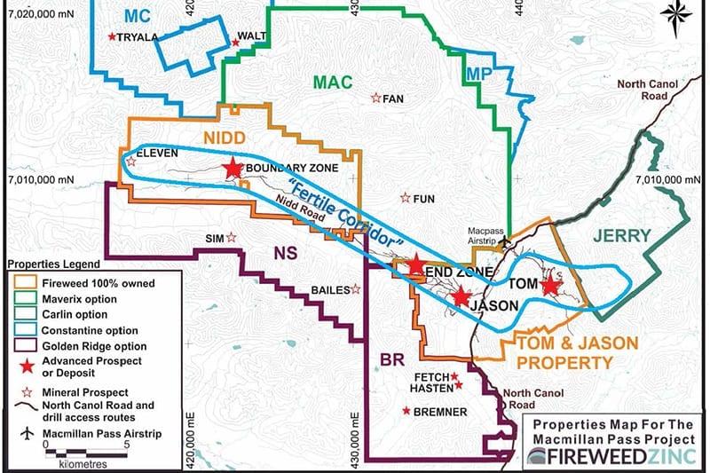 Tom Deposit property map