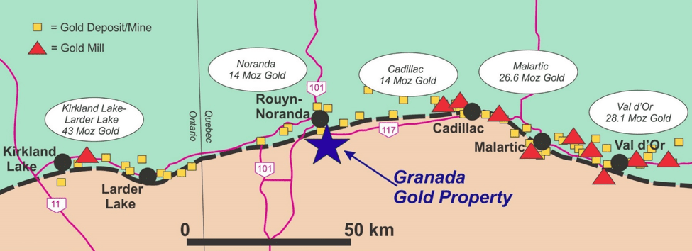 granada gold property on map