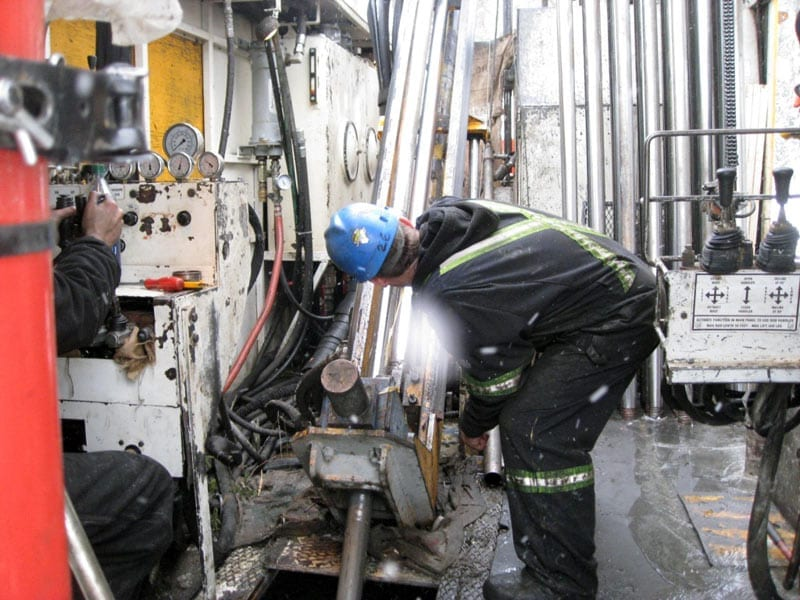 person working machinery