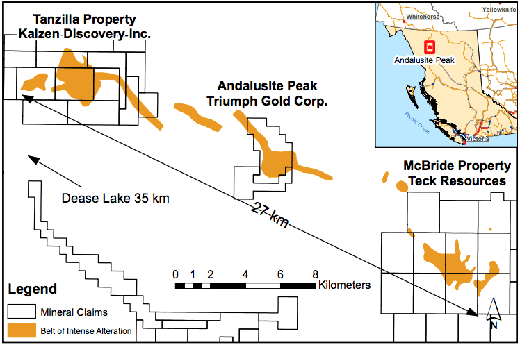 Andaluside Peak Project Map