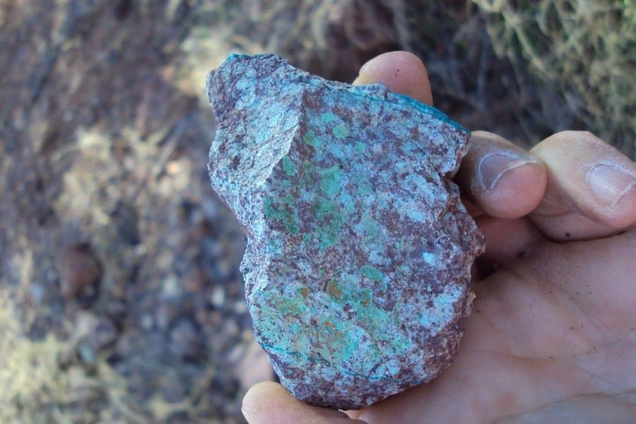 copper fox azerite mineralization