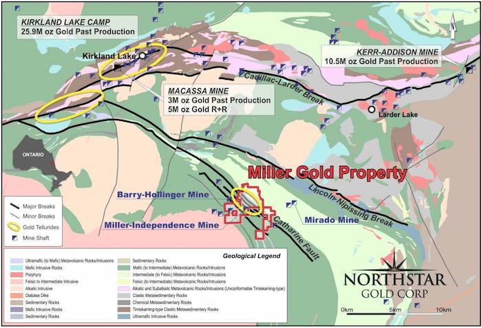 northstar gold map miller