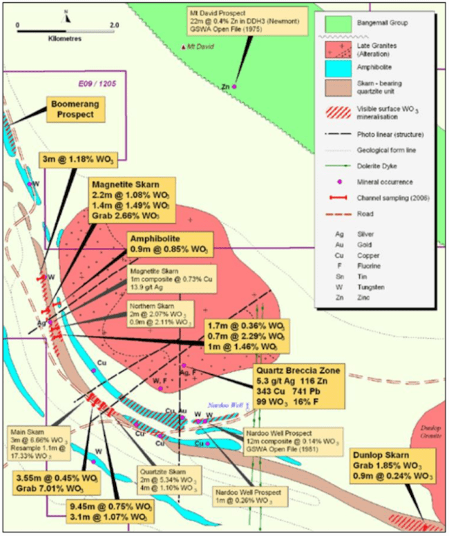 emetals limited project map