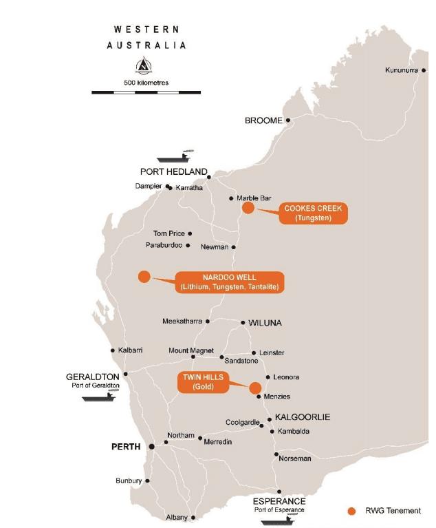 emetals western australia project map