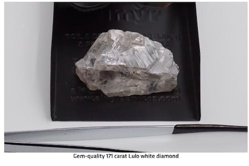 171 carat diamond found by Lucapa