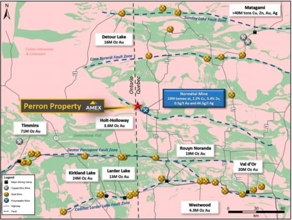 amex exploration abitibi greenstone belt