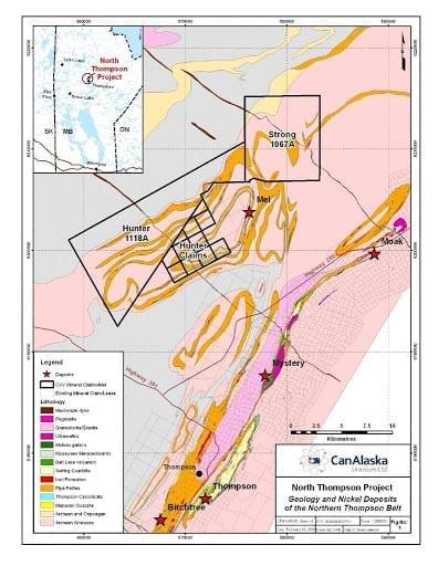 canalaska uranium's north thompson map