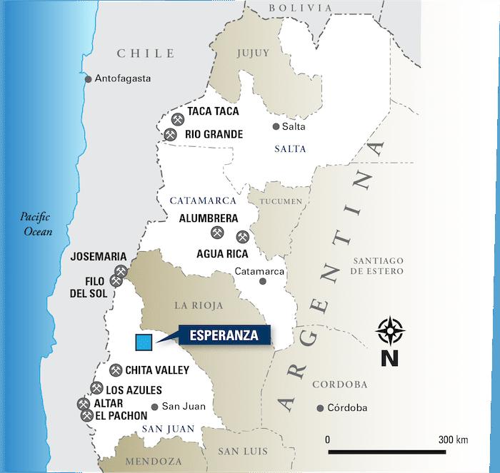 Latin Metals Argentina Projects Map