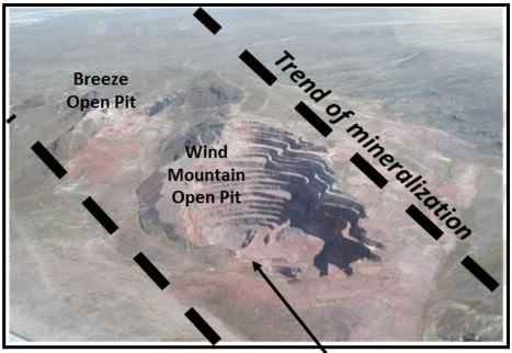 wind mountain open pit trend