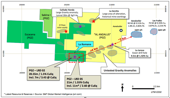 Pan Global Resources Escacena Project Map