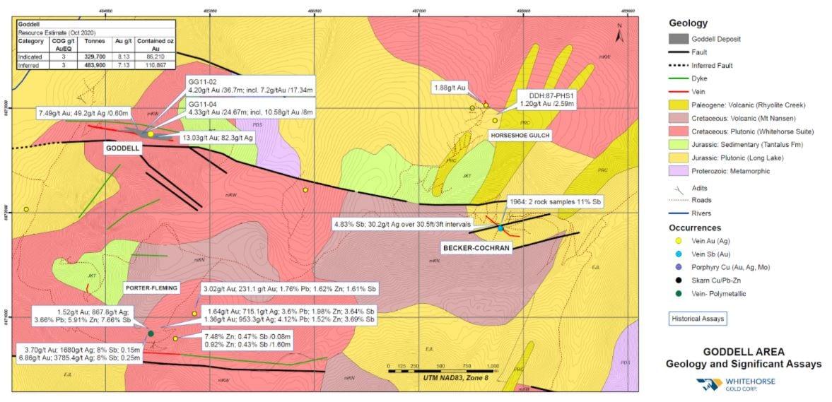 whitehorse gold geology map