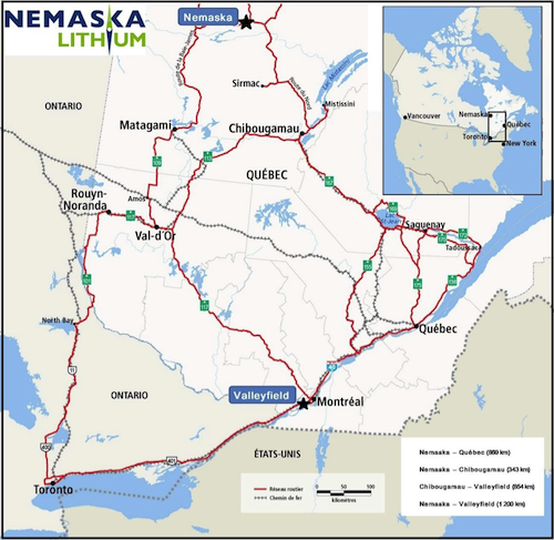 Nemaska Lithium - Near-term Lithium Production in Quebec