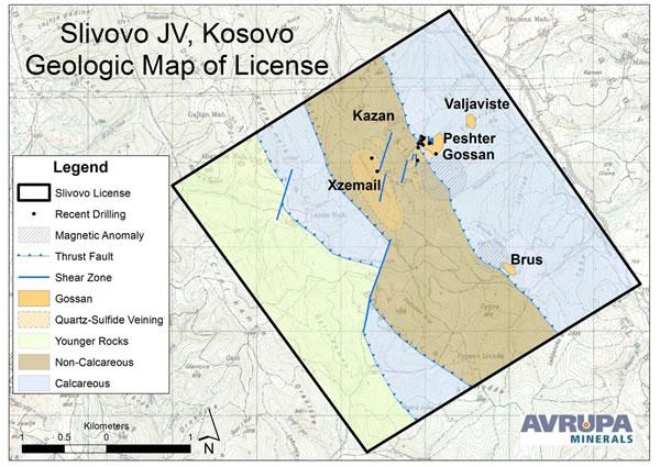 Avrupa-Minerals-Slivovo-Map