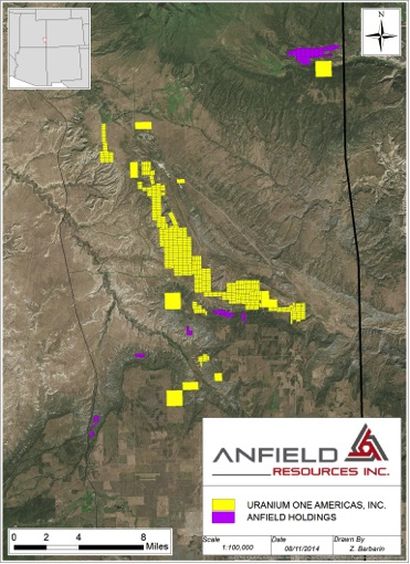 Anfield Resources Inc. – US Near-term Uranium Producer