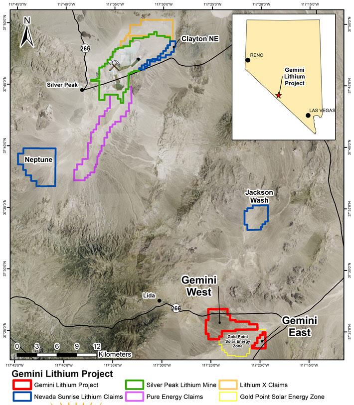 Eureka's Gemini Lithium Project, Nevada