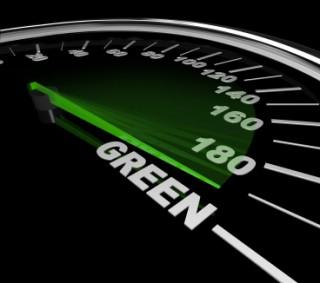 Green Car - Speedometer